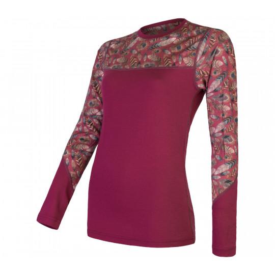 Tee-shirt femme laine Mérinos W'S MERINO IMPRESS LS feather SENSOR