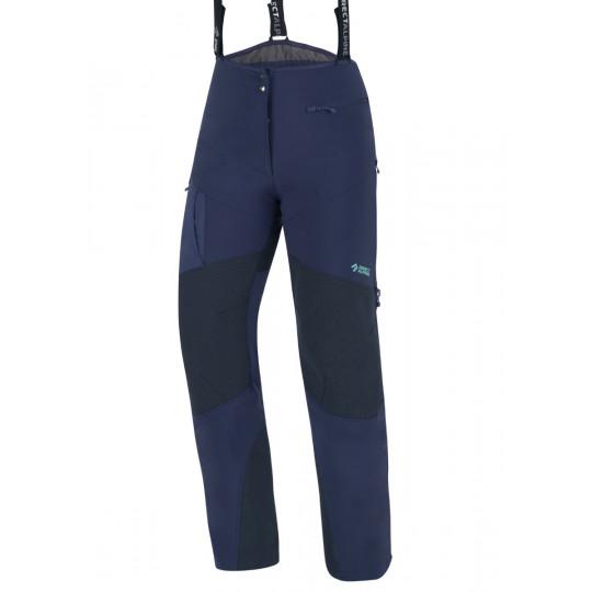 Pantalon softshell femme avec zip et guêtres COULOIR PLUS LADY indigo-menthe Directalpine