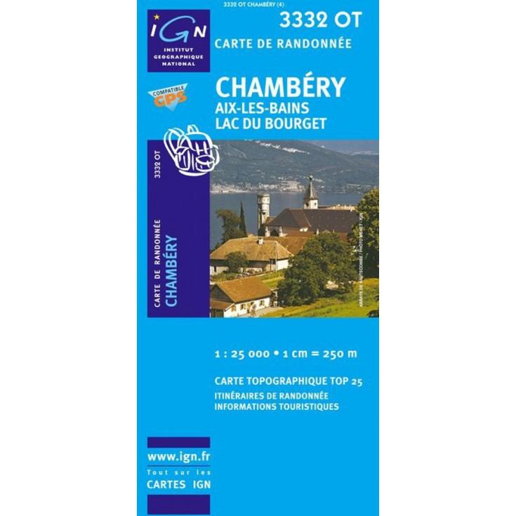Carte TOP 25 IGN 3332 OT CHAMBERY
